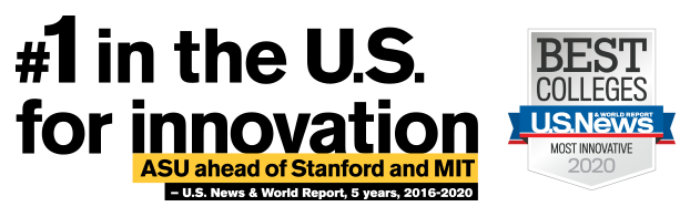 #1 in the US for Innovation Best Colleges US News & World Report Most Inivative 2020